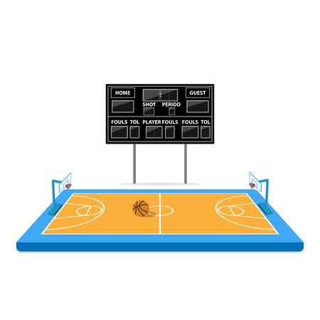 arena: basketball arena with scoreboard