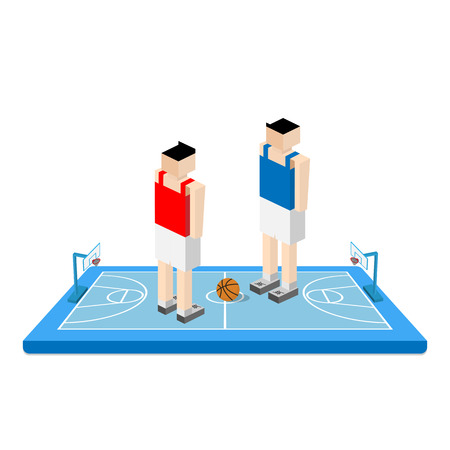 arena: basketball arena with player Illustration