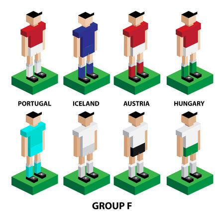 model kit: Europe football tournament group stage player model home and away kit