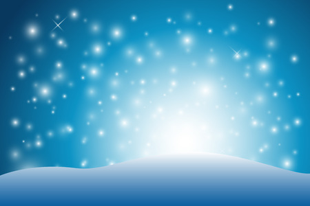 snow ground: abstract snow background with white light behind snow ground Illustration
