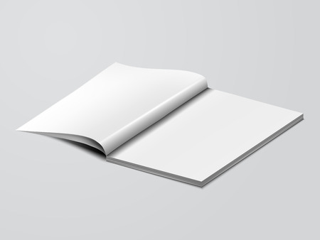 opened book: blank mock up opened book template