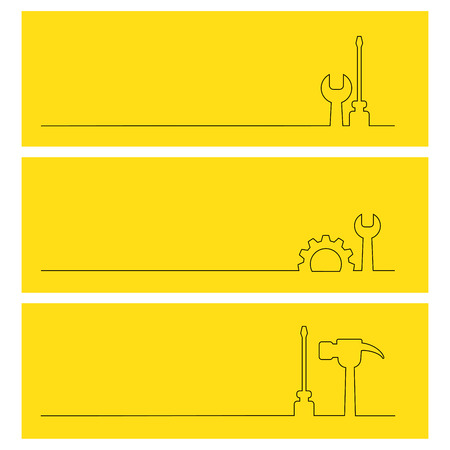 line icon tools set for banner or background Illustration