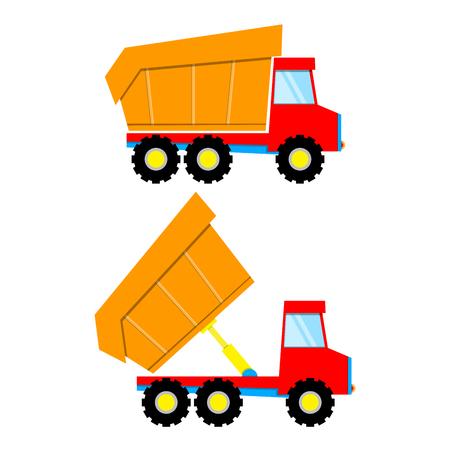 Truck dump for construction toy design