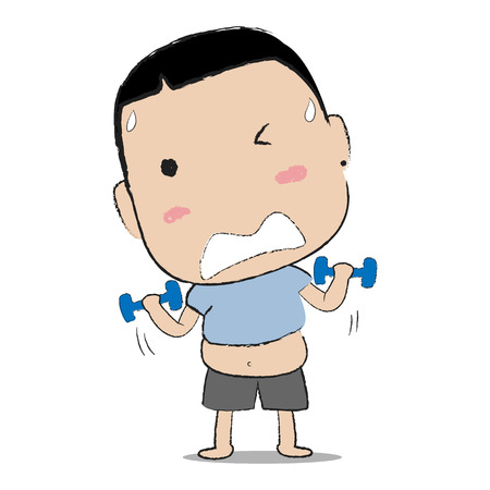 Lifting dumbbell work out to lose weight Ilustração