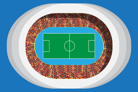 Soccer or football stadium with full attendance