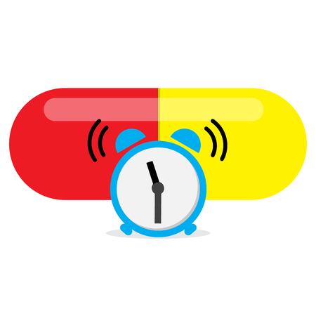 alarm clock alert for take a medicine time