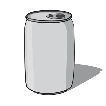 blank beverage can hand draw style