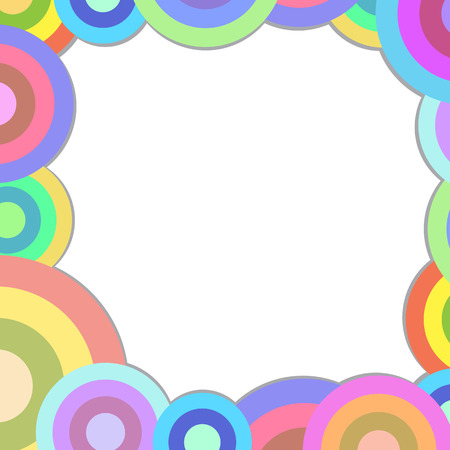 retro circles square frame blank space for text 矢量图像