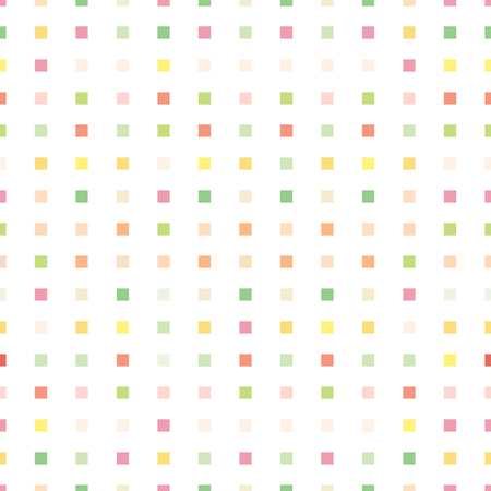 colorful pastel squre shape seamless pattern 矢量图像