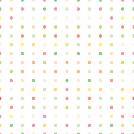 colorful pastel circle dots seamless pattern