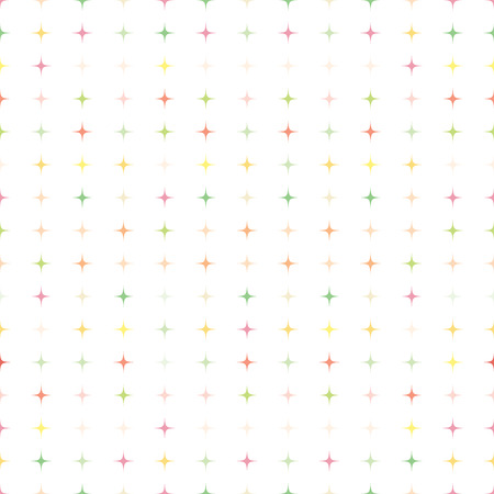 colorful pastel star shape seamless pattern 矢量图像