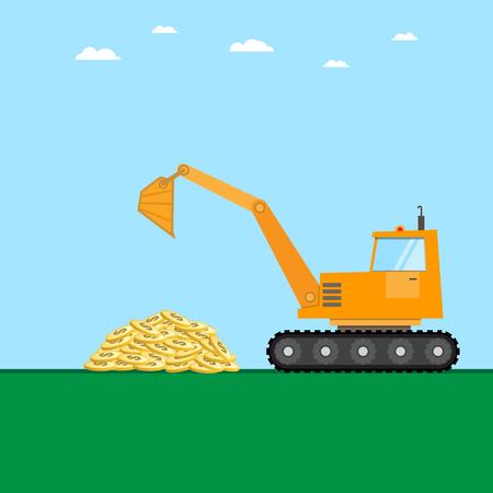 crawler loader with golden coins