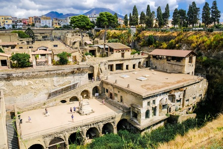 Herculaneum. View on the ancient town Stock Photo