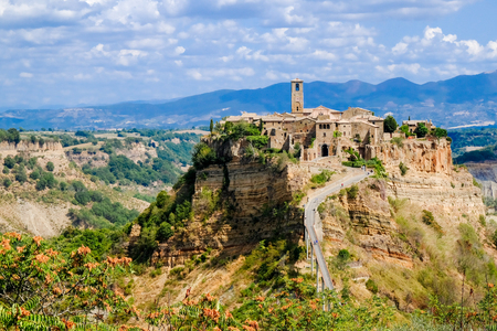 Civita di Bagnoregio a dying city on a crumbling rock. Ancient town