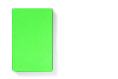 Blank light-green book cover, front side view. Empty hardcover mock up, isolated on white background. Stock fotó