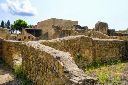 Herculanum, ancienne ville romaine : Murs de la ville mourante. Site archéologique, Ercolano Italie