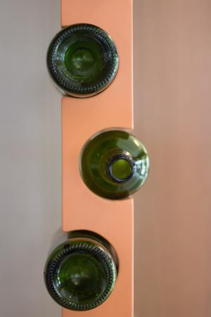 Bottle Holder, holes pillar for inserts.