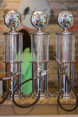 Beer equipment for beer filling. Archivio Fotografico - 105097416