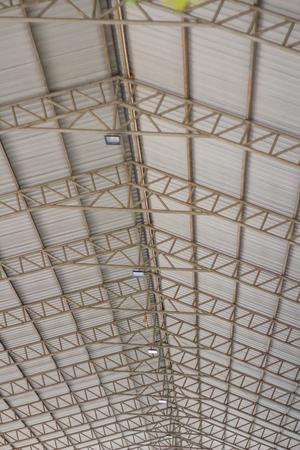 Steel structure canopy and Spotlight. Archivio Fotografico
