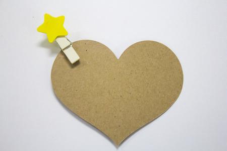 Brown paper heart. Archivio Fotografico