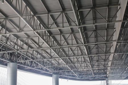 Large steel canopy. Archivio Fotografico - 104550723