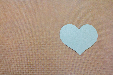 Brown paper heart. Archivio Fotografico - 104550860