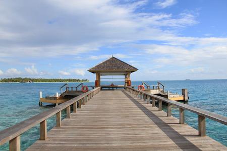 maldives island: Pavilion on Maldives island