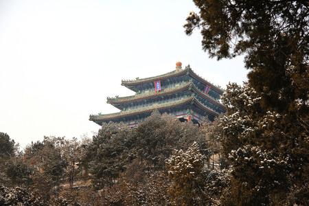 Nature view of Jingshan after the snow Sajtókép