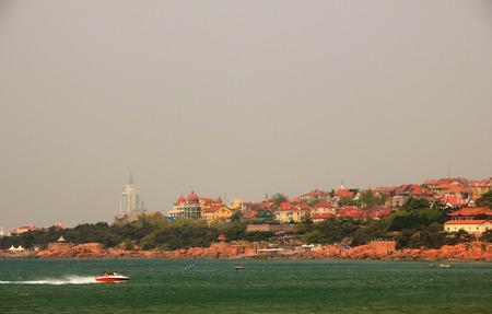 Coastal cities landscape view Stock fotó
