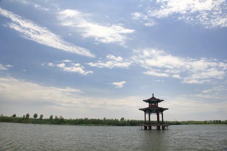 Pavilion on the lake Stock fotó