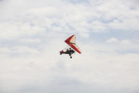 powered: Powered glider Stock Photo