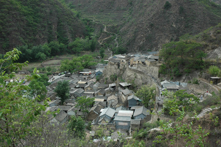 Aerial view of an ancient architecture village