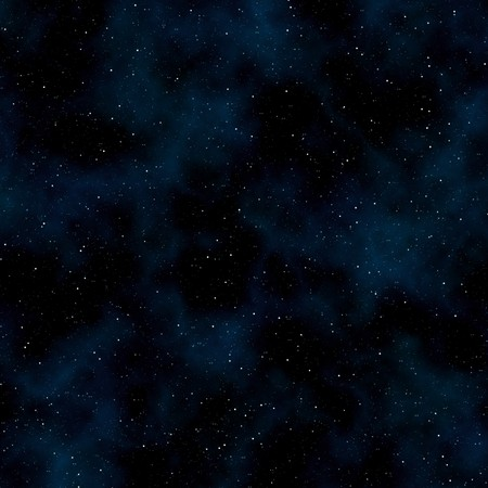 Abstract space background: stars and nebulas. Square photo