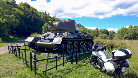 Monument to the Battle of the Dukel Pass. Editorial