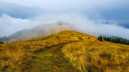 Mountains under clouds after rain in Bosnia and Heryegovina.
