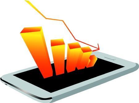 Economic downturn Stock Vector - 22112567