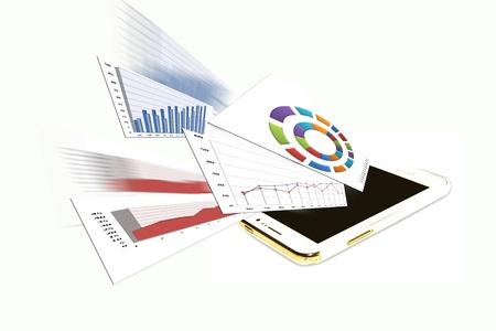 decline in values: Economic Information  Stock Photo