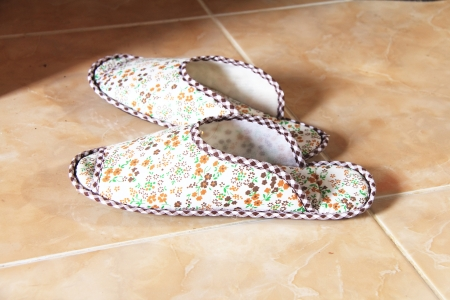 Shoes made from cloth  For home use  photo