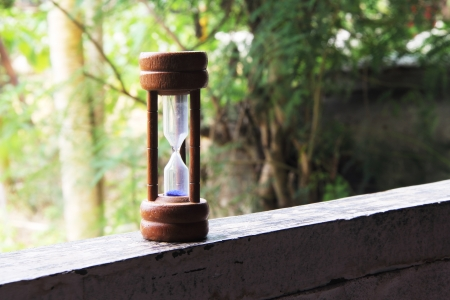 architrave: Hourglass on the architrave  Stock Photo
