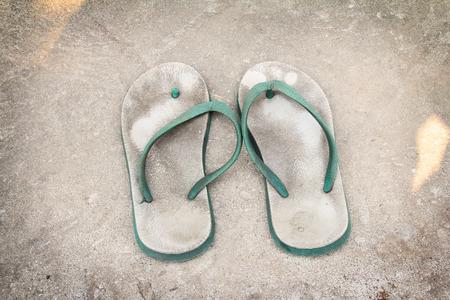 sandalias: viejo blanco - sandalias de pl�stico verde