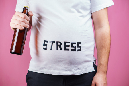 stress, alcohol addiction, compulsive overeating Stok Fotoğraf