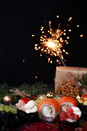 festive new year dinner, sushi,  japanese cuisine 写真素材