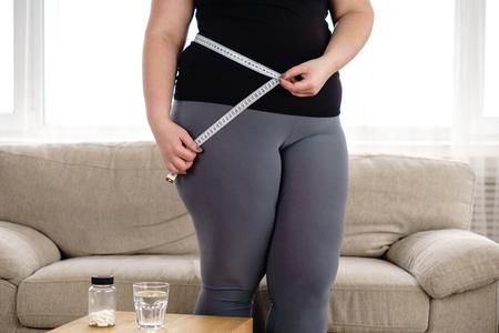Pérdida de peso, terapia médica, prevención de la diabetes. Foto de archivo