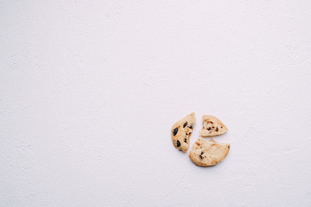 Pieces of broken cookie, diet, part, sharing 스톡 콘텐츠