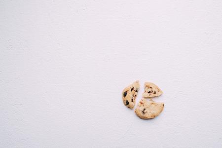Pieces of broken cookie, diet, part, sharing 写真素材