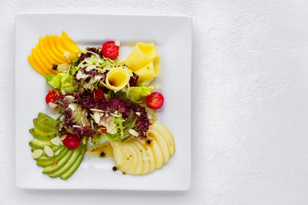 Delicious salad. Healthy and tasty food