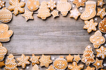 Christmas  with gingerbread cookies