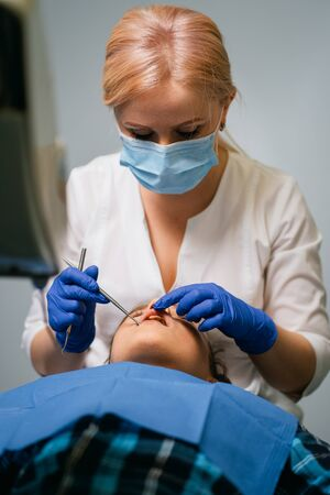dentistry, cavity prevention, dentist at work