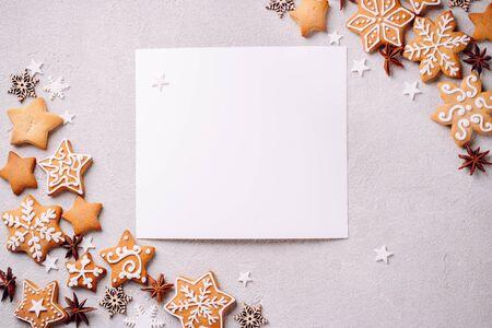 Christmas holidays, New Year greeting card mockup