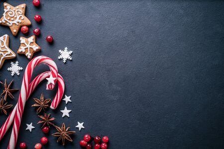 Christmas background, greeting card mockup Stock Photo